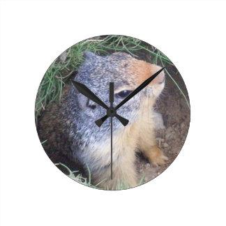 Groundhogの柱時計 ラウンド壁時計