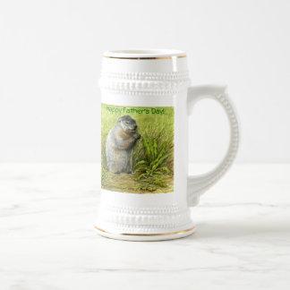 Groundhogの父の日ステイン ビールジョッキ