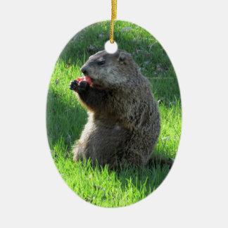 Groundhogの食べ物 セラミックオーナメント