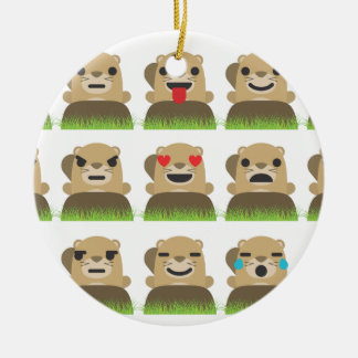 groundhogのemojis セラミックオーナメント