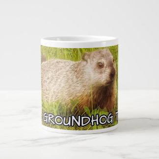 groundhogを今日襲います抱き締めて下さい ジャンボコーヒーマグカップ