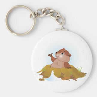 Groundhog Keychain キーホルダー