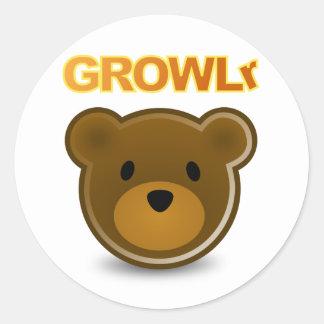 GROWLrのステッカー ラウンドシール