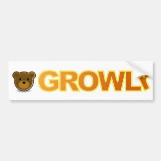 GROWLrのバンパーステッカー バンパーステッカー