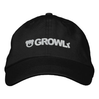 GROWLrの調節可能な帽子 刺繍入りキャップ