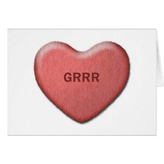 """Grrr""のバレンタインカード カード"