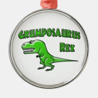 Grumposaurusのレックスの緑ガラス メタルオーナメント