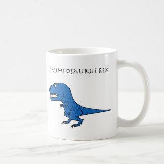 Grumposaurusのレックスの青い織り目加工のマグ コーヒーマグカップ