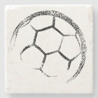 Grunge Style Soccer Design ストーンコースター