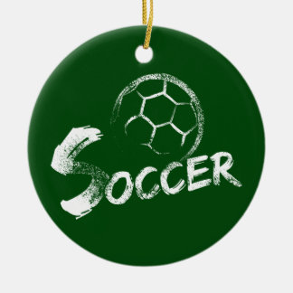 Grunge Style Soccer Design セラミックオーナメント