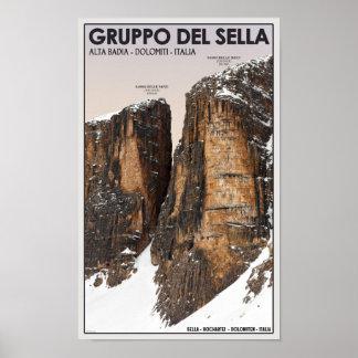 Gruppo del Sella - NoveおよびDieci ポスター