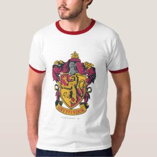 Gryffindorの頂上の金ゴールドおよび赤 Tシャツ