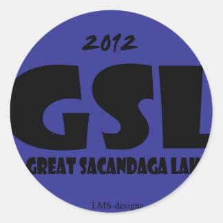GSL青いD ラウンドシール