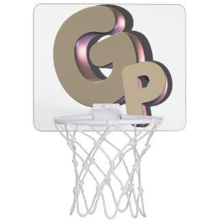 GSN GODPLAYSの小型バスケットボールの網のロゴ ミニバスケットボールゴール