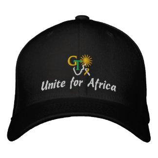 GTはアフリカの帽子のために結合します 刺繍入りキャップ