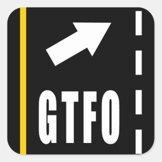 GTFOのステッカー スクエアシール