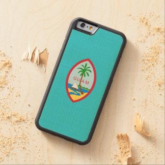 Guamanian紋章付き外衣 CarvedメープルiPhone 6バンパーケース