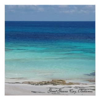 Guanaの素晴らしいキー、バハマのオーシャンビューポスター ポスター