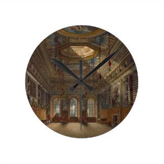 Guard Chamberの「王室のからのWindsorの城王の、 ラウンド壁時計