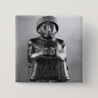 、Gudea Lagashの王子 5.1cm 正方形バッジ