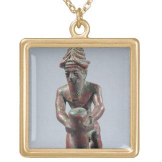 Gudea TからのLagashの王子の、基礎ネイル、 ゴールドプレートネックレス