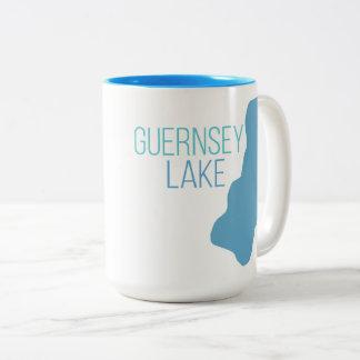 guernsey湖、Delton、ミシガン州 ツートーンマグカップ
