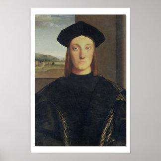 Guidobaldo da Montefeltro Urbの公爵の、ポートレート ポスター