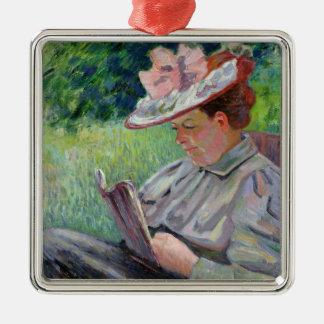 Guillaumin、c.1895 (キャンバスの油)夫人 メタルオーナメント