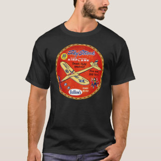 Guillowsの空の縞のバルサ材の飛行機 Tシャツ