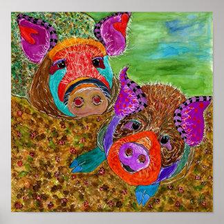 "Guinea Hog 12x12"" Poster (Customizable) ポスター"