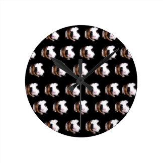 Guinea_Pig_Pattern、_ ラウンド壁時計