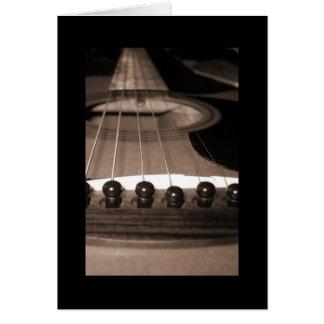 Guitar1 Notecardの黒のボーダー カード