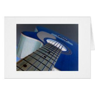 Guitar3 Notecardの白いボーダー カード