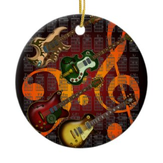 Guitar and Chord 07 オーナメント