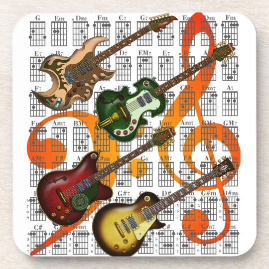 Guitar and Chord 07 コースター