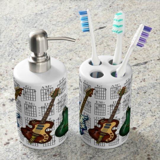 Guitar & chord2 歯ブラシホルダー