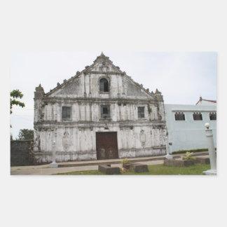 Guiuanの教会 長方形シール