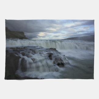 Gulfossの滝、アイスランド キッチンタオル