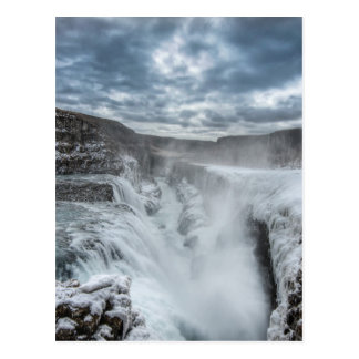 Gullfossの滝、アイスランド ポストカード