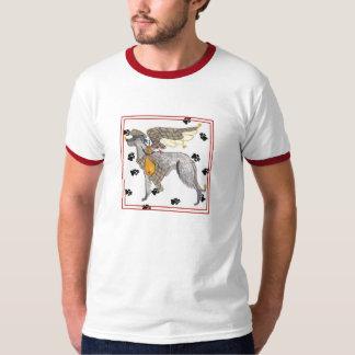Gulliverの天使のスコットランド人のDeerhoundのTシャツ Tシャツ