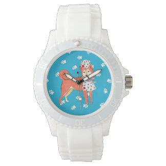 Gulliverの天使の柴犬の腕時計 腕時計