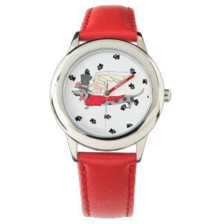 Gulliverの天使はダックスフントの腕時計をまだらにします 腕時計
