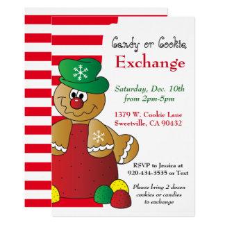 Gumdropのジンジャーブレッドクッキー及びキャンデー交換 カード