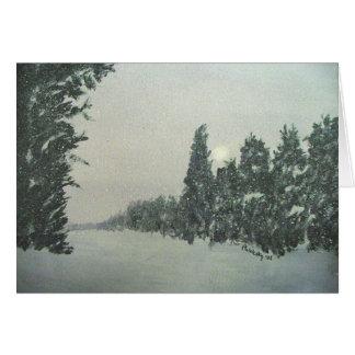 Gunflintの道の雪 カード