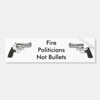 gunleft、銃、火のPoliticiansNotの弾丸 バンパーステッカー