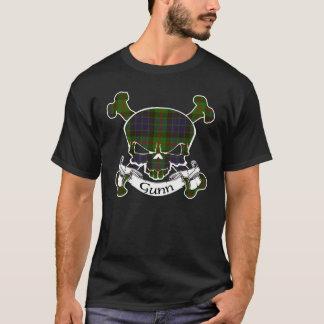 Gunnのタータンチェックのスカルのワイシャツ Tシャツ