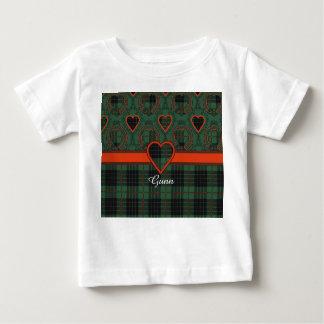 Gunnの一族の格子縞のスコットランド人のタータンチェック ベビーTシャツ