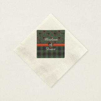 Gunnの一族の格子縞のスコットランド人のタータンチェック 縁ありカクテルナプキン