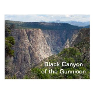 Gunnisonの国立公園の黒い渓谷 ポストカード