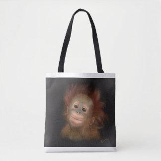 Gunungの赤ん坊のオランウータン トートバッグ